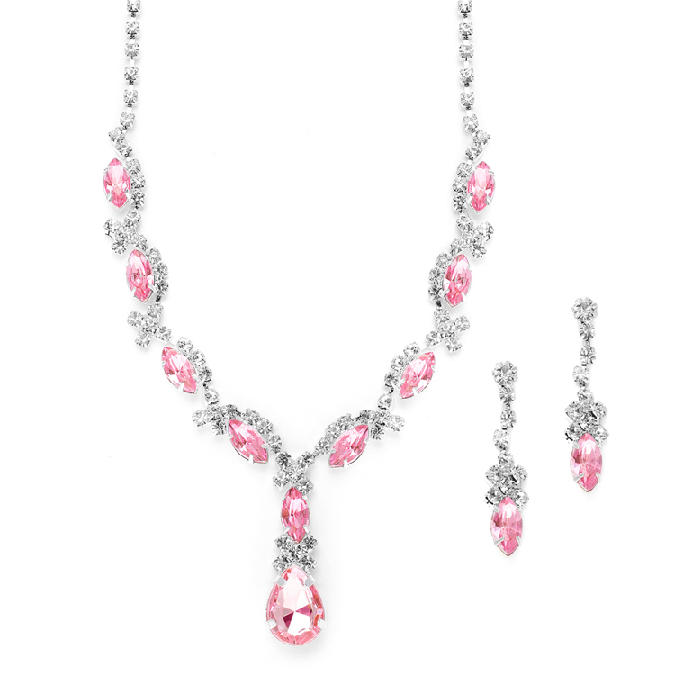 detail cherry collection blossom necklace crystal product pink jewelry apollobox sakura
