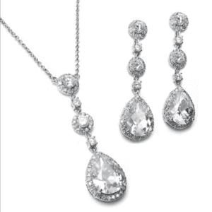 400s – Pear Drop CZ Necklace Set
