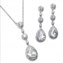 400s - Pear Drop CZ Necklace Set