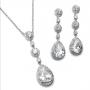400s - Pear Drop CZ Necklace Set