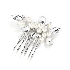 Pearl and Crystal Wedding Comb
