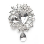 Clear Crystal Brooch