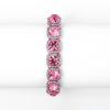 Pink Crystal Solitaire Stretch Bracelet