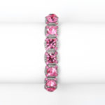 Pink Crystal Solitaire Stretch Bracelet