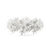 Matt Silver Floral Prom Bracelet
