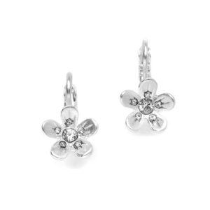 Matt Silver Flowers Earrings
