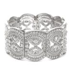 Filigree Stretch Art Deco Bracelet